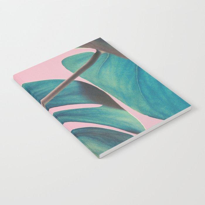 Monsteras on Pink I Notebook