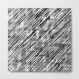Diagonals B & W Metal Print