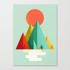 Little Geometric Tipi Canvas Print