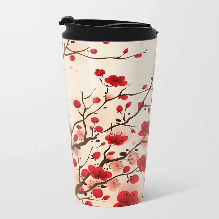 Oriental plum blossom in spring 006 Metal Travel Mug