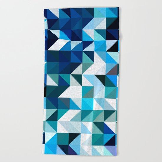 Shattered ocean Beach Towel