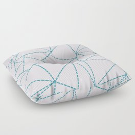 Ab Dotted Lines Blue on Pink Floor Pillow