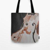 violin Tote Bags featuring violin by Anja Kidrič AdAk