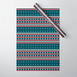 Ships Ahoy Blue/Red Stripe Wrapping Paper