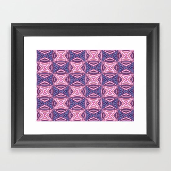 Pink Pattern Framed Art Print