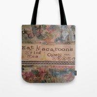 macaroons Tote Bags featuring Macaroons by drskippyart