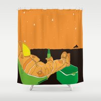 astronaut Shower Curtains featuring Astronaut by Abras