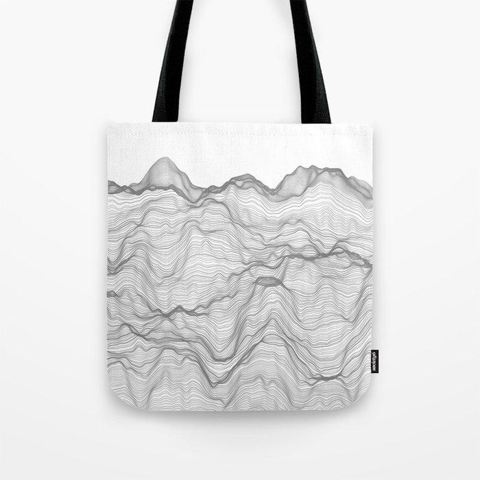 Soft Peaks Tote Bag