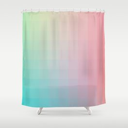 Lumen, Pink and Teal Shower Curtain