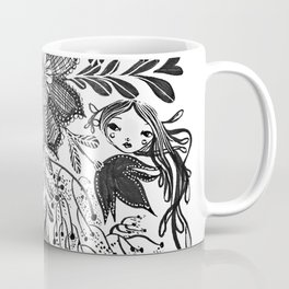 Me and you, day and night in our messy garden Coffee Mug