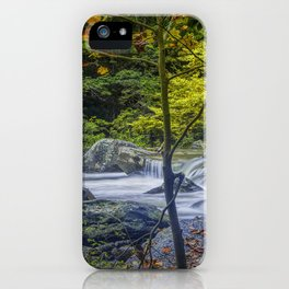 Rocky Broad River in October iPhone Case
