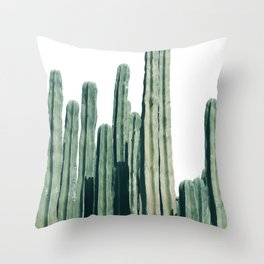 Cactus Line Throw Pillow
