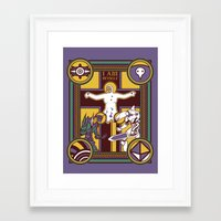 evangelion Framed Art Prints featuring Illuminated Evangelion by C. A. Neal