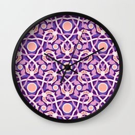 Purple Arabesque Wall Clock