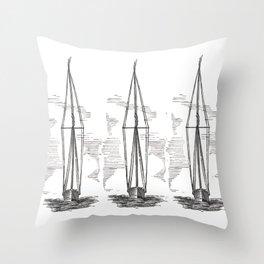 I Saw Three Ships Throw Pillow