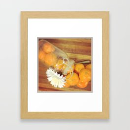 Clementines From Above Framed Art Print