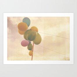 The Vintage Balloons Art Print