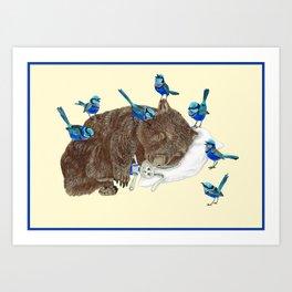 Wrens Wombat sleep Art Print