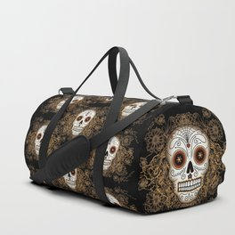 Vintage Sugar Skull Duffle Bag