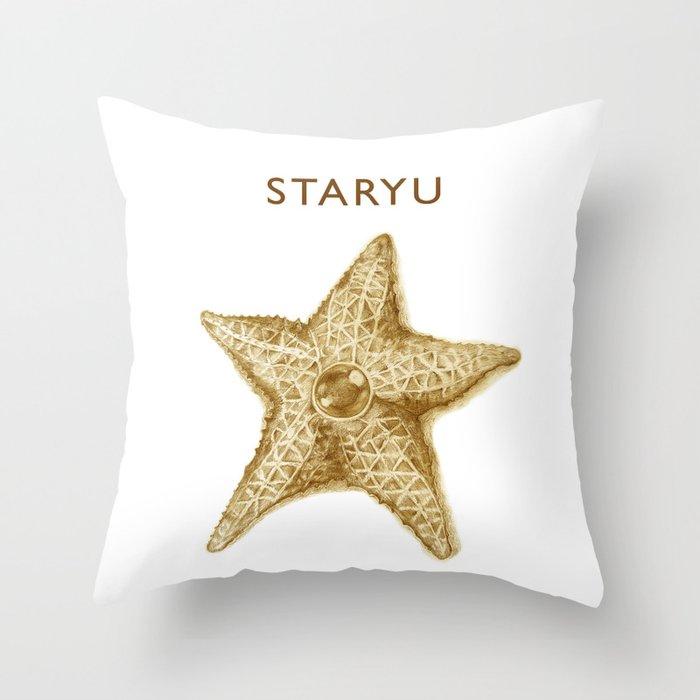 Sandy Staryu Throw Pillow