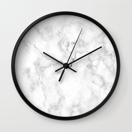 White Marble Design Wall Clock