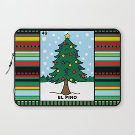 Christmas Loteria El Pino Laptop Sleeve