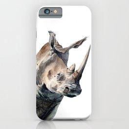 Portrait of a Rhinoceros iPhone Case