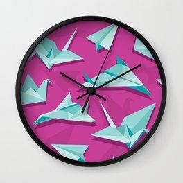planes and cranes Wall Clock