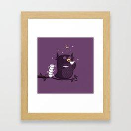 Coffee-Holic Framed Art Print