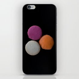 The Art of Food Macarons on Black iPhone Skin