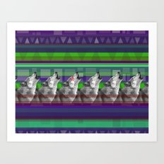 Wolves- Blue Art Print