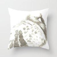 pigeon Throw Pillows featuring Pigeon by Goran Medjugorac
