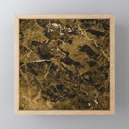 Marble Marrone Emperador Dark Framed Mini Art Print