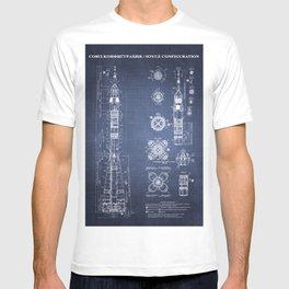 Soyuz Blueprint in High Resolution (dark blue) T-shirt
