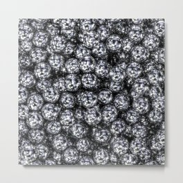 It's Full of Disco / 3D render of hundreds of shiny mirror balls Metal Print