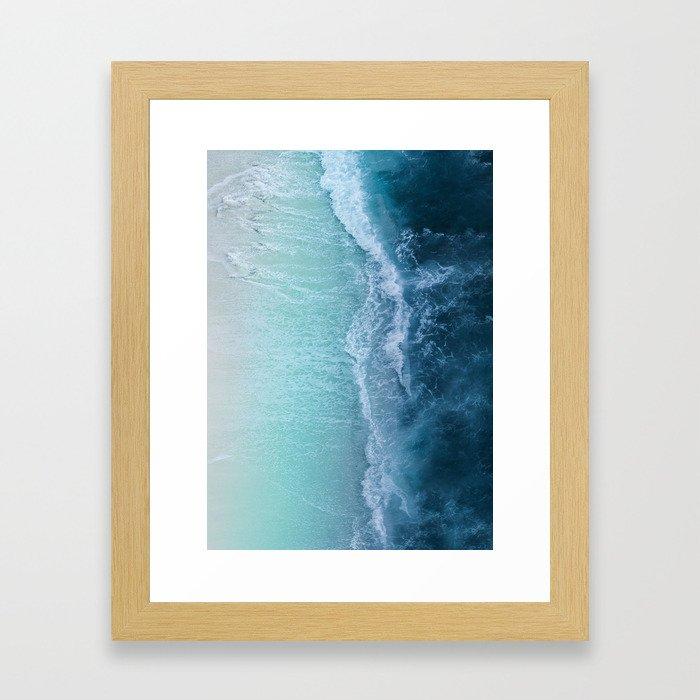 Turquoise Sea Gerahmter Kunstdruck
