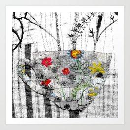 World is a cup of tea Art Print