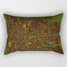 Bangalore old green map Rectangular Pillow