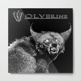 A W-olverine Named Howlie Metal Print