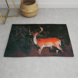 Deer in dark forest / fallcollection / scandinavian style Rug