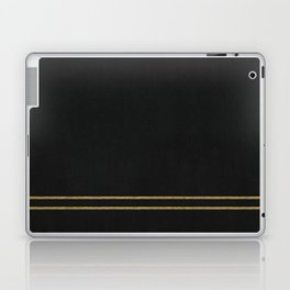 Black Velvet with Gold Lines Laptop & iPad Skin