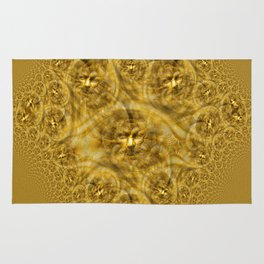 Golden Facial Fractual Rug