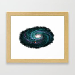 We are here turquoise Framed Art Print