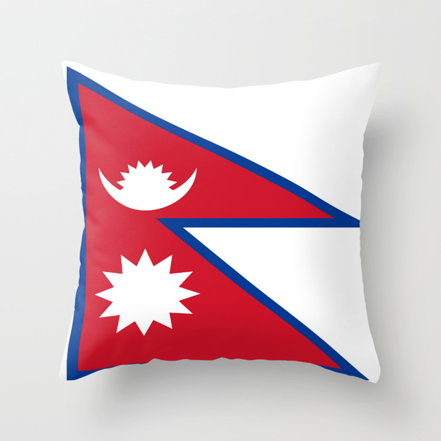 Flag Of Nepal Nepal Buddhism Nepali Nepalese India Asia Kathmandu Pokhara Tibet Throw Pillow By Oldking Society6
