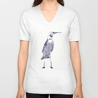 rare V-neck T-shirts featuring Rare Bird by lesinfin
