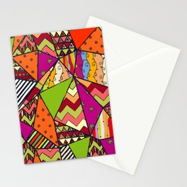 African Style No14, Tribal dance Stationery Cards