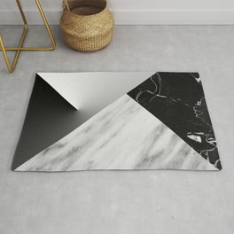 Monochromatic Marble Collage  Rug