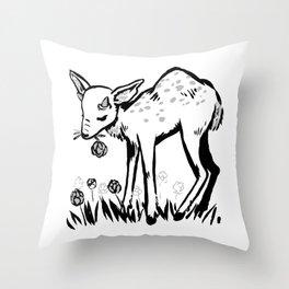 Humpy fawn Throw Pillow