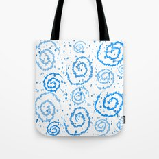 Abstract Blue Squigglisciousness Tote Bag