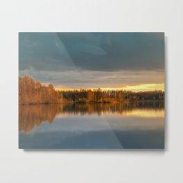 Nature lake 88471 Laupheim - Germany Metal Print